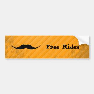 English Mustache Bumper Sticker