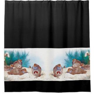 English Partridges Birds Wildlife Shower Curtain