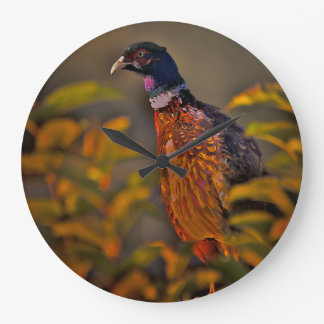 English Pheasant Large Clock