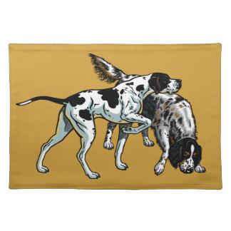 english pointer and setter placemats