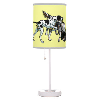english pointer and setter table lamp