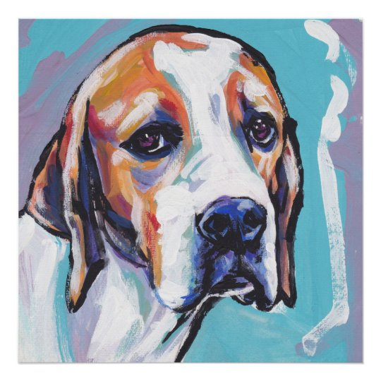 English Pointer Bright Pop Art Poster print