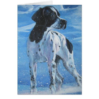 english pointer christmas card