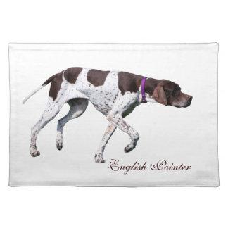 English Pointer dog beautiful photo, gift Placemats