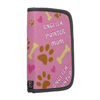 English Pointer Dog Breed Mom Gift Idea Folio Planners