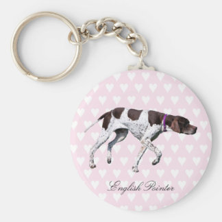 English Pointer dog keychain, gift idea Keychain