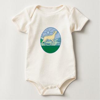 English Pointer Dog Mono Line Baby Bodysuit