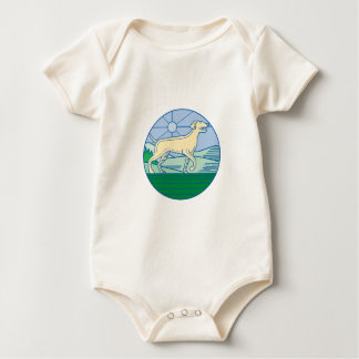 English Pointer Dog Mono Line Baby Bodysuit