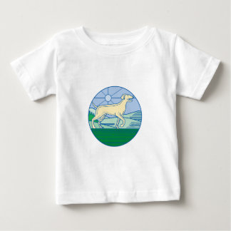 English Pointer Dog Mono Line Baby T-Shirt