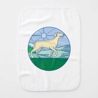 English Pointer Dog Mono Line Burp Cloth