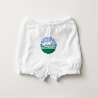 English Pointer Dog Mono Line Diaper Cover