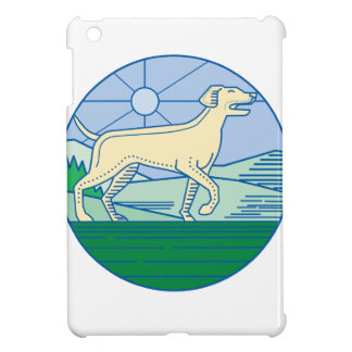 English Pointer Dog Mono Line iPad Mini Cover