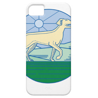 English Pointer Dog Mono Line iPhone 5 Cover