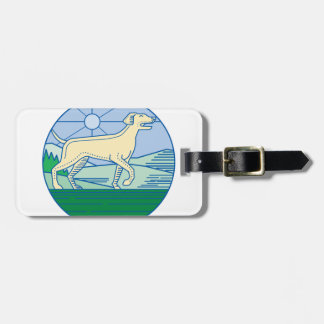 English Pointer Dog Mono Line Luggage Tag