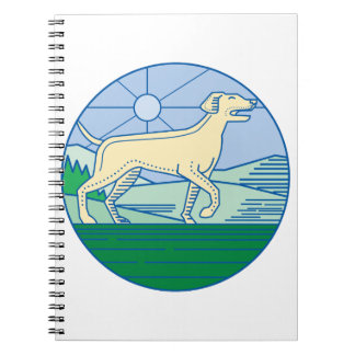 English Pointer Dog Mono Line Notebook