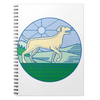 English Pointer Dog Mono Line Spiral Notebook