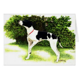 English Pointer Dog Portrait Blank Greeting Card