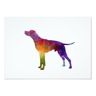 English Pointer in watercolor Card