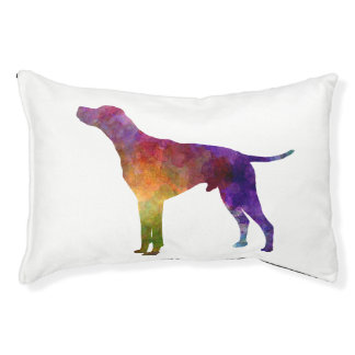 English Pointer in watercolor Small Dog Bed