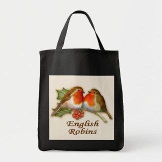 English Robins Grocery Tote Bag