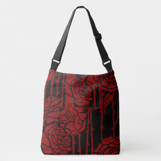 English Rose Book Design Crossbody Bag