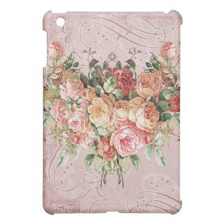English Rose Bouquet, Vintage n Modern Swirl Leaf iPad Mini Case