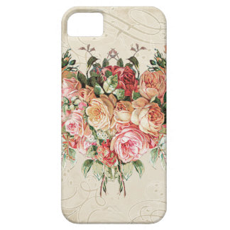 English Rose Bouquet, Vintage n Modern Swirl Leaf iPhone 5 Covers