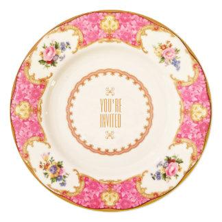English Rose Garden Party High Tea Invitation