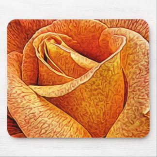 English Rose Macro Floral flower Close Up Petals Mouse Pad