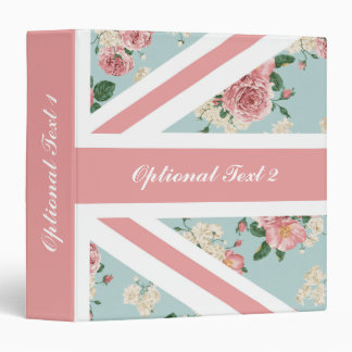 English Roses Union Jack Flag Vinyl Binder