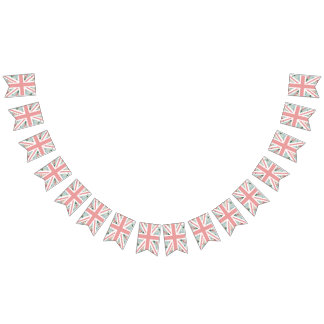 English Roses Union Jack Party Bunting Flags