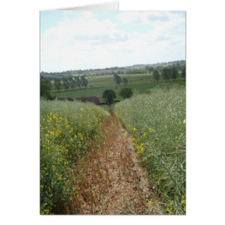 English rural countryside scene photo art card