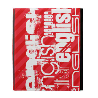 English; Scarlet Red Stripes iPad Cases