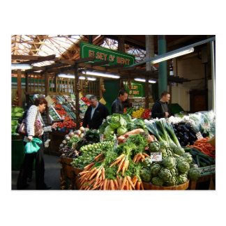 English Scenes, Borough Market, buying vegetables Postcard