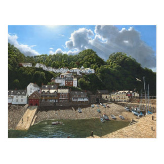 English Scenes, Clovelly, hillside village in Nort Postcard