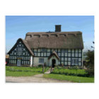 English Scenes, Half-timbered and thatched cottage Postcard