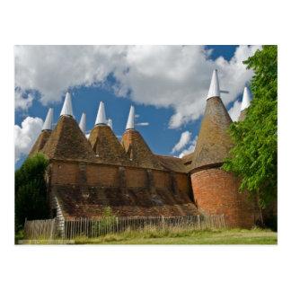 English Scenes, Oast Houses in Kent Postcard