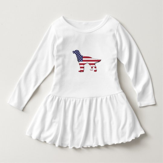 "English Setter - ""American Flag"" Dress"