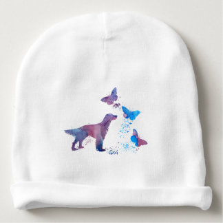 English Setter And Butterflies Baby Beanie