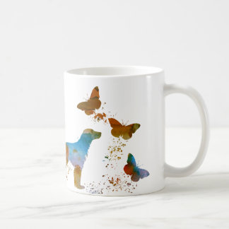 English Setter And Butterflies Coffee Mug