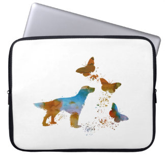 English Setter And Butterflies Laptop Sleeve