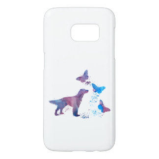 English Setter And Butterflies Samsung Galaxy S7 Case