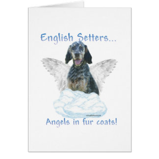 English Setter Angel Card