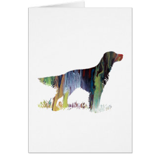 English setter art card
