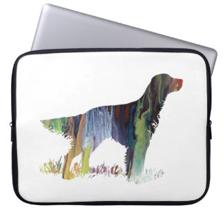 English setter art laptop sleeve