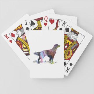 English setter art playing cards