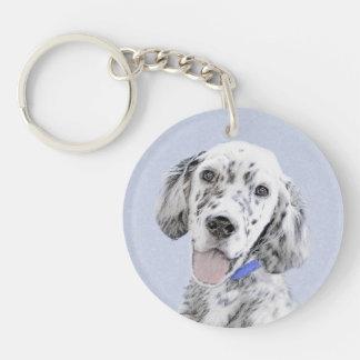 English Setter (Blue Belton) Keychain