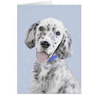 English Setter Blue Belton Painting Dog Art Card