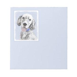 English Setter Blue Belton Painting Dog Art Notepad