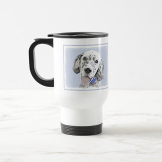 English Setter Blue Belton Painting Dog Art Travel Mug